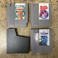 Nintendo NES Authentic 3 Game Lot | Top Gun 2nd Bases Loaded Elway's Quarterback