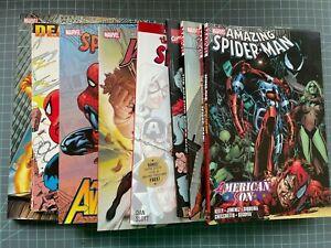 MIXED LOT OF 9 MARVEL SPIDER-MAN TPB'S/HC BIG TIME HUMAN TORCH STRACZYNSKI