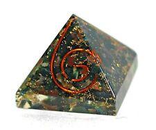 Reiki Healing Energy Bloodstone Crystal Orgone Orgonite Pyramid Gift Wrapped