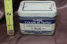Vintage PURETEST REXALL CREAM OF TARTAR TIN EMPTY