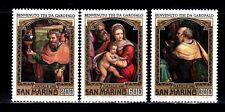 SELLOS NAVIDAD SAN MARINO 1981 1040/42 BENVENUTO TISI DA GAROFALO PINTURA 3v.