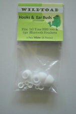 White Replacement plastic hooks and earbuds for LG tone HBS700 LG tone HBS 730