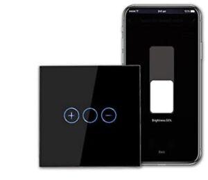 CN Bingo Wifi Smart Dimmer Switch In Black From UK Seller Open Box Item / Alexa