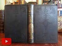 Trumbull's Indian Wars 1846 Dearborn woodcut frontis pictorial gilt book scarce