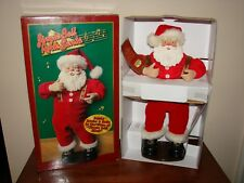 JINGLE BELL ROCK Animated Dancing Santa Claus - 1998 Edition #1 - New In Box