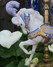 Porcelain Horse Carousel Lamp SWAG brass Chandelier Vintage Nursery baby room
