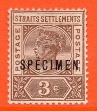 No Gum Malayan & Straits Settlements Stamps