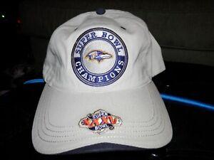Baltimore Ravens Super Bowl Champions XXXV hat cap NEW VTG 2001 Super Bowl 35