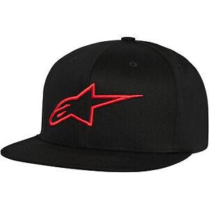 Alpinestars Ageless Flat Bill Hat Black/Red All Sizes