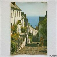 Down-A-Long Clovelly Devon Postcard (P616)