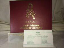 Danbury Mint 2002 Boxed Set Christmas Ornaments 23K Electroplate