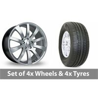 """4 x 20"""" Riva SUV Hyper Silver Alloy Wheel Rims and Tyres -  275/55/20"""