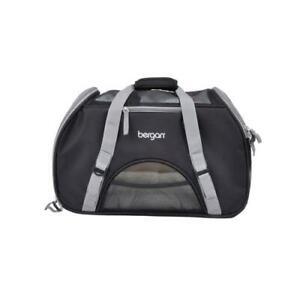 """Bergan 88918 Black/Grey Pet Comfort Carrier Large Up To 22lbs. 19"""" x 10"""" x 13"""""""