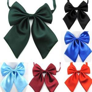 Womens Lolita Solid Necktie Shcool Uniform Adjustable Bow Tie Cosplay Costume