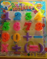 26pk MAGNETIC LEARNING SET Teaching Alphabet Numbers Magnets Fridge Notes