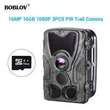 BOBLOV HC801A 16MP 16GB Hunting Night Vision Camera 36pcs LEDs 0.3s Wildlife Cam