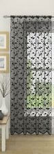 EVIE SHEER VOILE NET CURTAIN SINGLE PANEL SLOT TOP RODS FLORAL LEAVES PRINTED