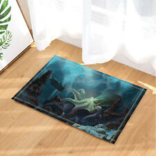 Kitchen Bath Bathroom Shower Floor Home Door Mat Rug Octopus and submarine