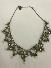 Michal Negrin simulated pearl and crystal statement necklace