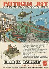 X2110 Pattuglia Jeff - Mattel - Eroi in azione - Pubblicità 1976 - Advertising