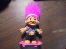 "RUSS "" Skate Boarder With Purple Hair""  Troll Doll  5"""