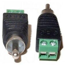 CamVtech USA (10pcs) UTP Cat5/Cat6 Cable to AV RCA Male Screw Terminal Audio/...