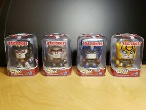 TRANSFORMERS Mighty Muggs Lot of 4 - Optimus, BumbleBee, Starscream & Megatron!