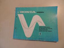 Werkstatthandbuch Teile Katalog Honda XR 500 PE01 parts catalogue de pieces