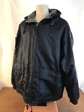 Abercrombie & Fitch Nylon Hooded Lined Coat Mens Size Large XL (SWW1)