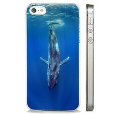 Blue Whale Ocean Sea Incredible CLEAR PHONE CASE COVER fits iPHONE 5 6 7 8 X