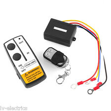 12V Wireless Remote Control Kit For Recovery Truck Jeep ATV Winch Warn Ramsey