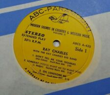 1963 Ray Charles Country 33 RPM Jukebox EP VG++ 45 RPM Record 6 Song