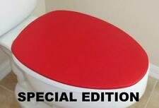 Shiny Lid Cover toilet SEAT Red Bright for Standard & Elongated  HandMade in USA