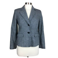 Womens Pendleton 6 Wool Blend Two Button Notched Collar Blazer Jacket