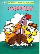 Vintage Garfield Color/Activity Book~Unused~(Golden Books, 1991)