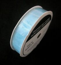 "New ListingFree Shipping 6 Yards 5/8""(1.5cm) Sheer Organza Ribbon Blue Craft/Wedding/Party"
