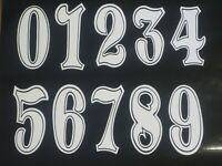 ZERONINE Printed Vinyl Number Decals Stickers BMX Motocross Karting Bike Retro