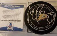 BECKETT COA BELESKEY SIGNED GARY B BETTMAN NHL ANAHEIM DUCKS OFFICIAL GAME PUCK