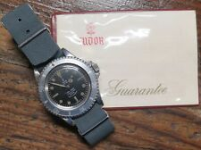 .Vintage 1968 Tudor Oyster Submariner S/S Mens Watch 7016 + Papers Vietnam