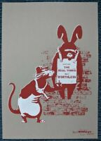 The Real Not Banksy Front 11th Hour Worthless Rat & Chimp signed 7/175