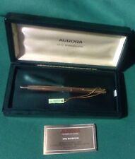 """Penna Aurora 88 """"GL"""" oro massiccio 333 8kt box Certificato Perfetta Stupenda !!!"""