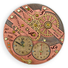 Chronomaton 1856 unique vintage wooden wall clock, personalized, housewarming