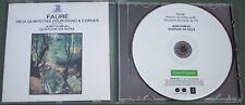 FAURE QUINTETS PIANO STRINGS Jean Hubeau Quatuor Via Nova ERATO ORIGINALS CD
