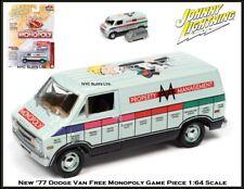Johnny Lightning New '77 Dodge Monopoly Van & Free Token 1/64th Diecast Car