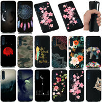 For Huawei P20 Lite/Pro Painted Shockproof Soft Silicone Black TPU Case Cover