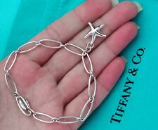 Tiffany & Co Elsa Peretti Sterling Silver Starfish Oval Link Bracelet