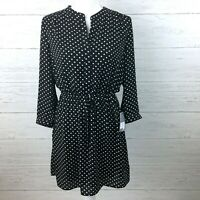 NEW DR2 Women's Black and White Polka Dot Dress Lightweight Flowy Small