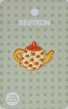 BEUTRON Iron On Motif Applique Patch Tea Pot Orange Yellow 9312919042561 BM6326