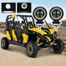 "2X 3"" Round LED WORK LIGHT BAR Spot Lamp ATV Off Road Driving Halo Fog Light DRL"