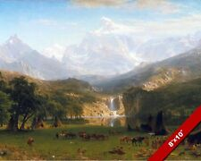 Native American Indian Tribe Rocky Mountains Art 8X10 REAL CANVAS GICLEE PRINT